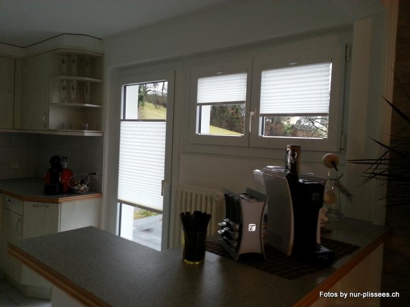 Plissee Küche plisseerollos bzw faltrollos für die küche
